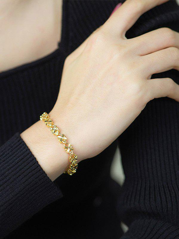 Four-leaf Plated Gold Bracelet - GOLDEN
