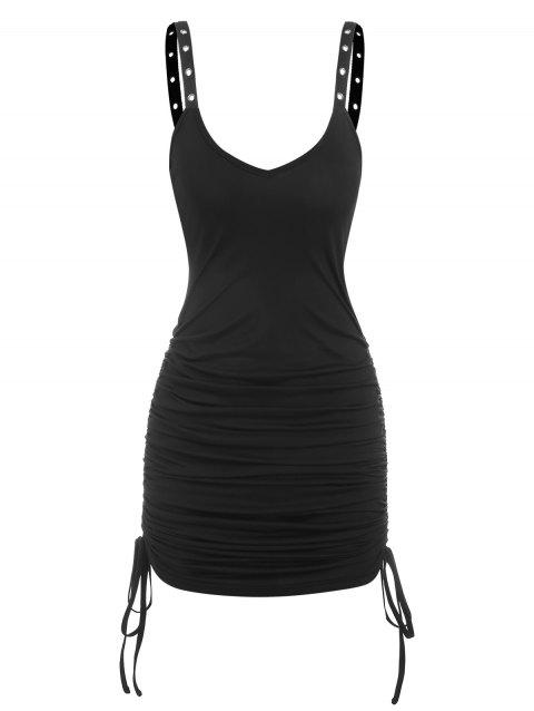 Gothic Cinched Eyelet Bodycon Dress