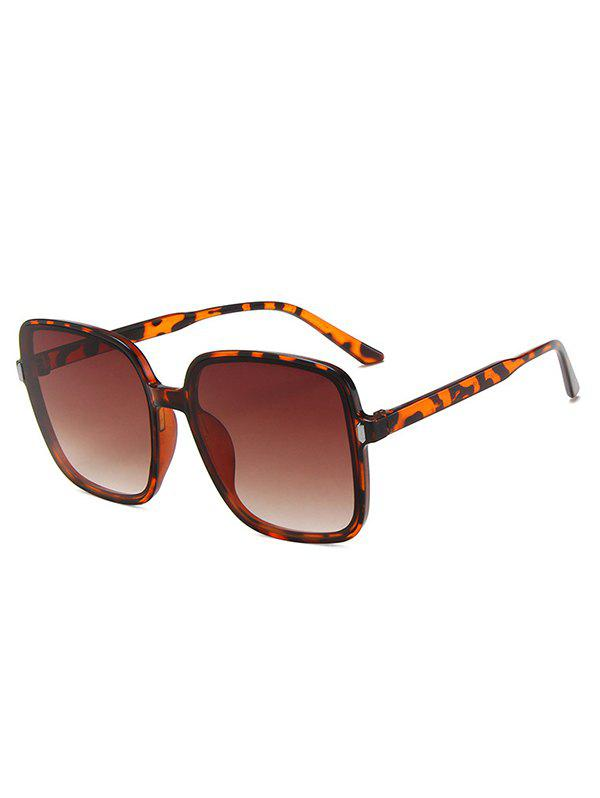 Square Oversized Travel Sunglasses - LEOPARD