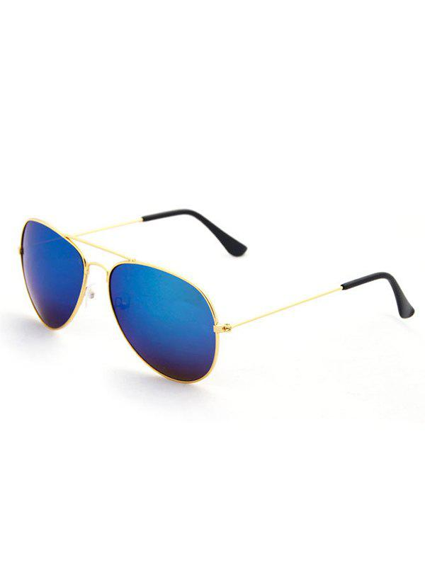 Oval Shape Pilot Sunglasses - GOLDEN