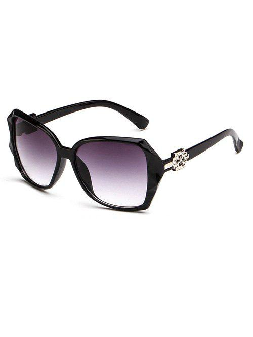 Embellished Temple Ombre Sunglasses - BLACK