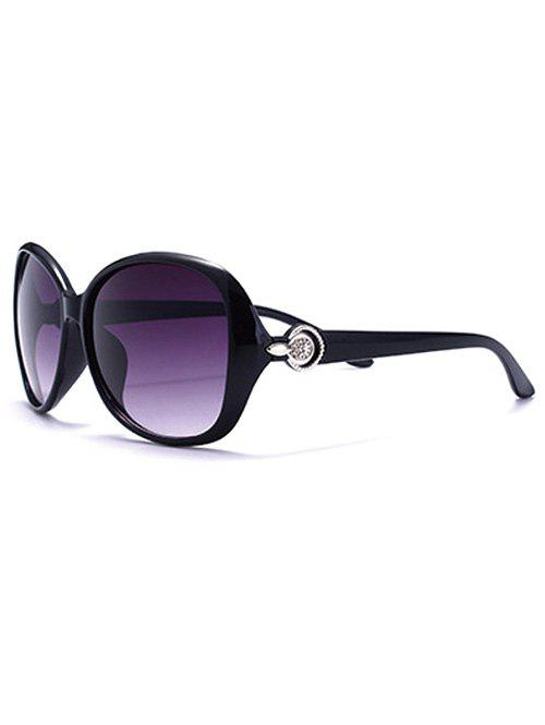 Travel Embellished Temple Ombre Sunglasses - PURPLE