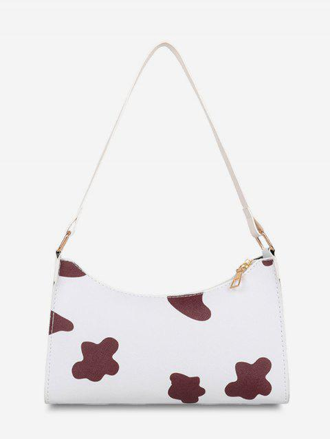 French Style Cow Spot Print Shoulder Bag