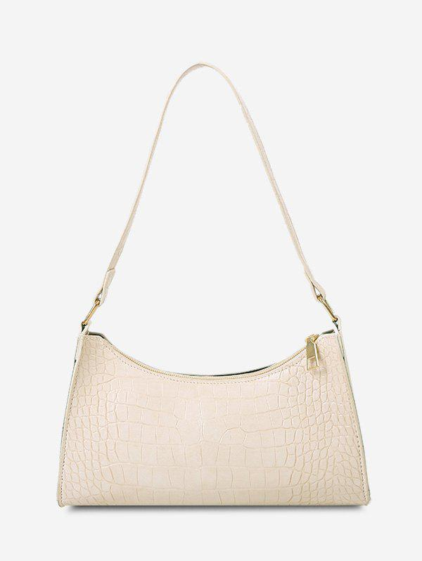 Stone Print Shoulder Bag - WARM WHITE