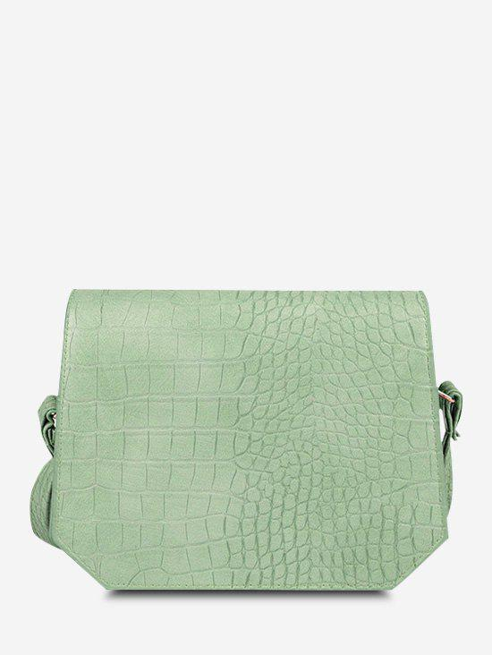 Irregular Solid Textured Crossbody Bag - DARK SEA GREEN