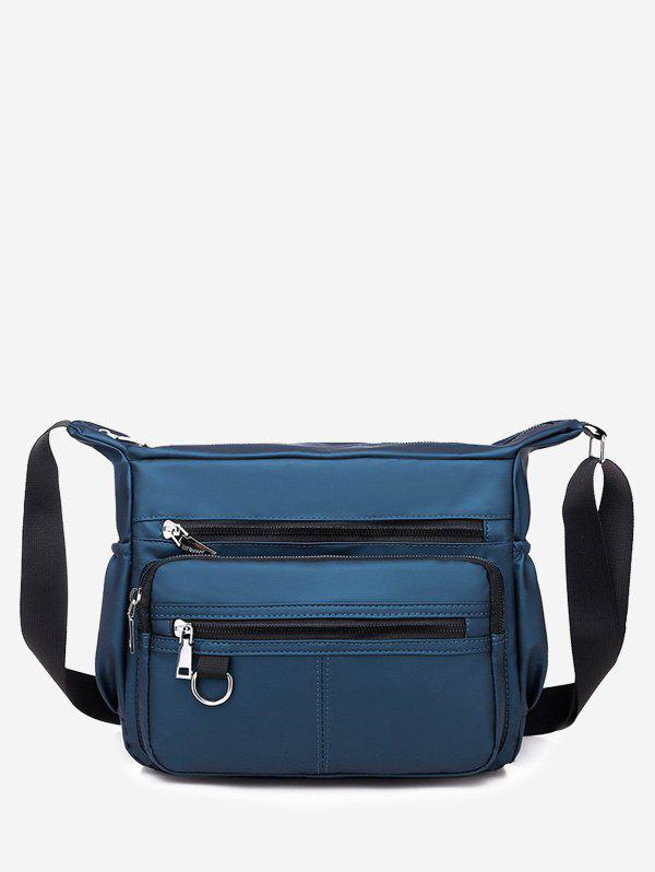 Business Trip Waterproof Shoulder Bag - CADETBLUE