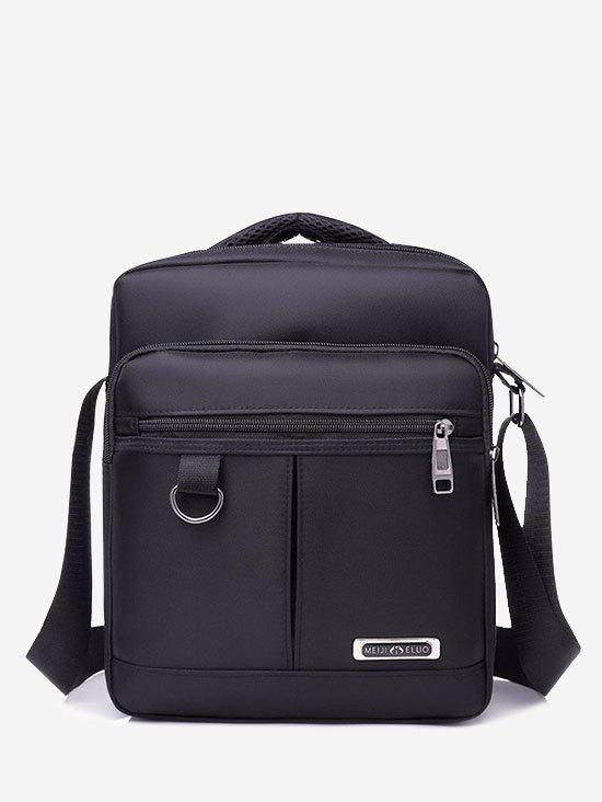 Casual Multi-function Square Shoulder Bag - BLACK