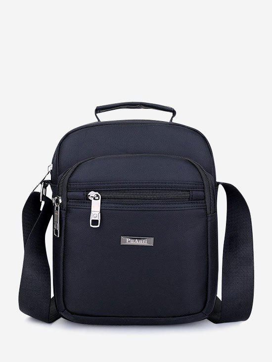 Letter Label Leisure Business Shoulder Bag - BLACK