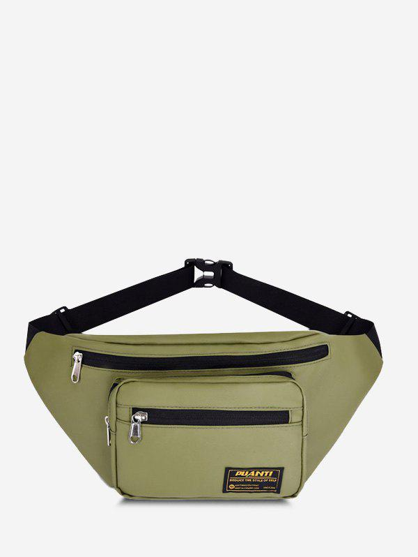Casual Letter Label Outdoor Waist Bag - JUNGLE GREEN