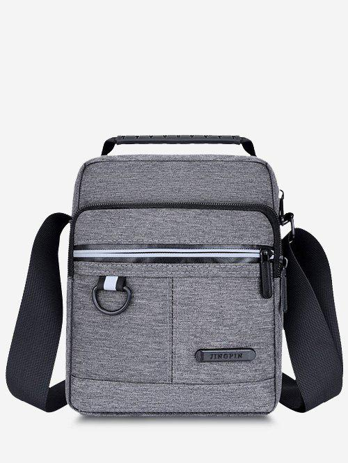 Casual Business Multi-function Zippers Shoulder Bag - GRAY
