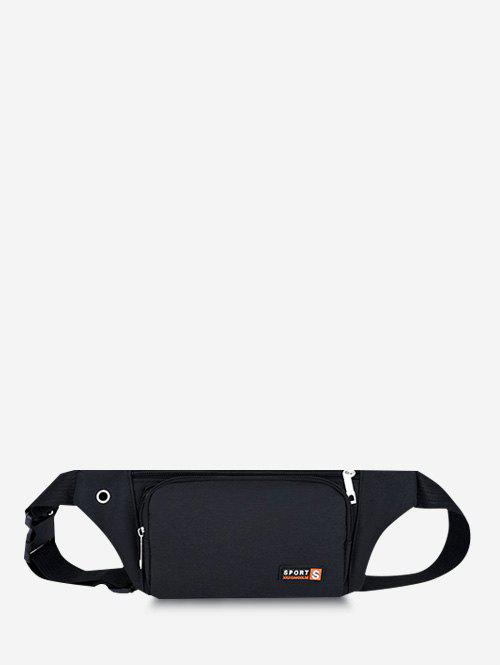 Mobile Phone Sports Chest Waist Bag - BLACK