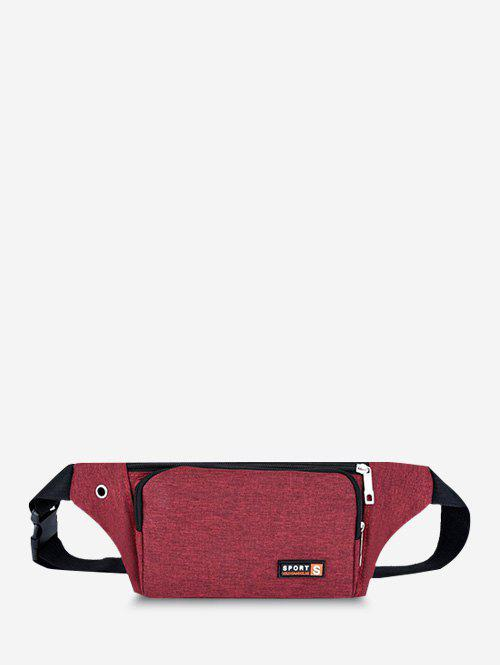 Mobile Phone Sports Chest Waist Bag - RED