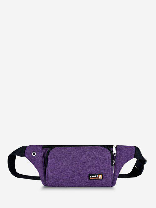 Mobile Phone Sports Chest Waist Bag - DARK ORCHID