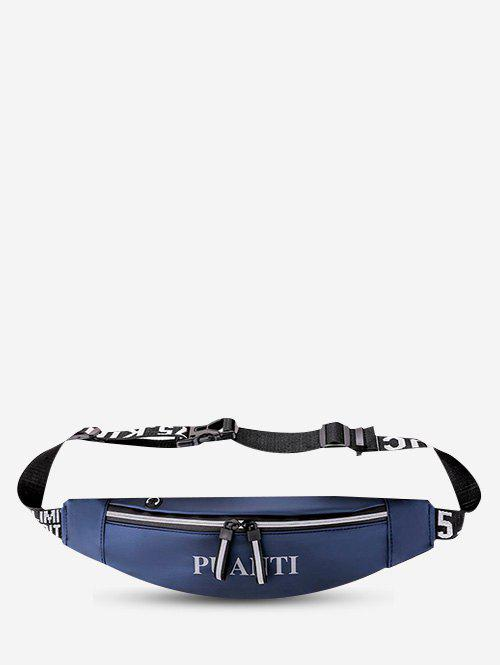 Waterproof Cellphone Letter Pattern Waist Bag - OCEAN BLUE