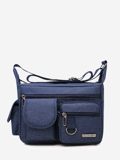 Outdoor Business Pockets Shoulder Bag - CADETBLUE