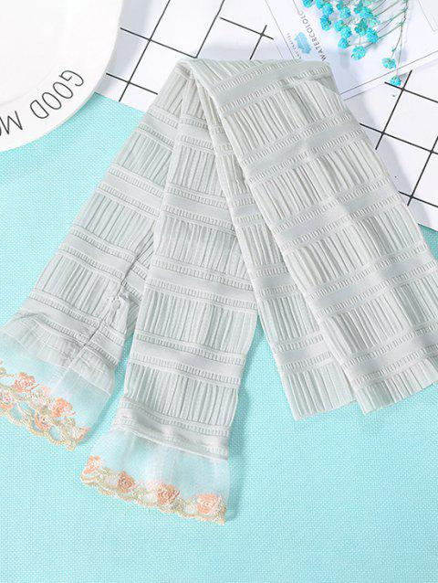 Outdoor Pleated Floral Lace Sunproof Arm Sleeves