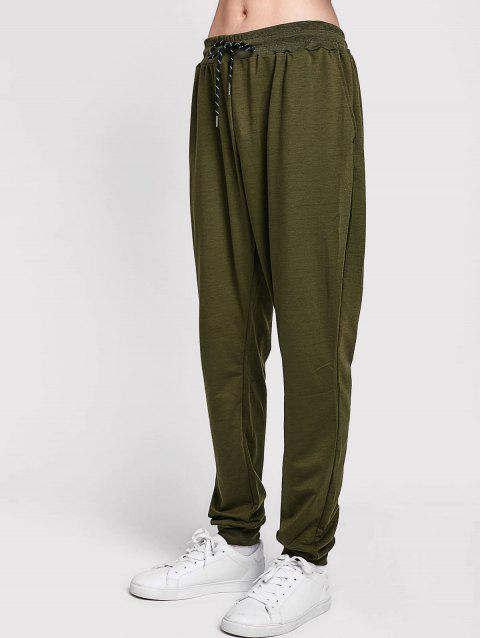 Solid Side Pockets Casual Jogger Pants