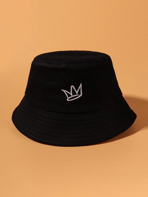 Crown Embroidered Causal Bucket Hat