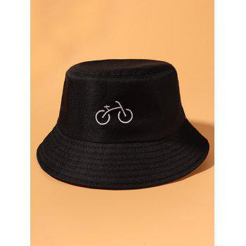 Bicycle Embroidered Casual Bucket Hat