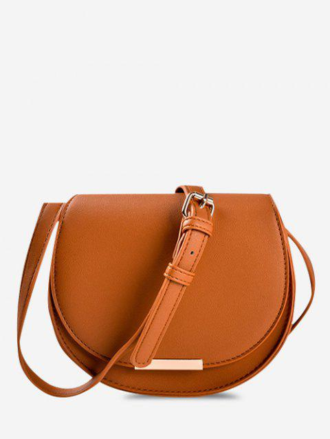 Solid Cover Crossbody Saddle Bag