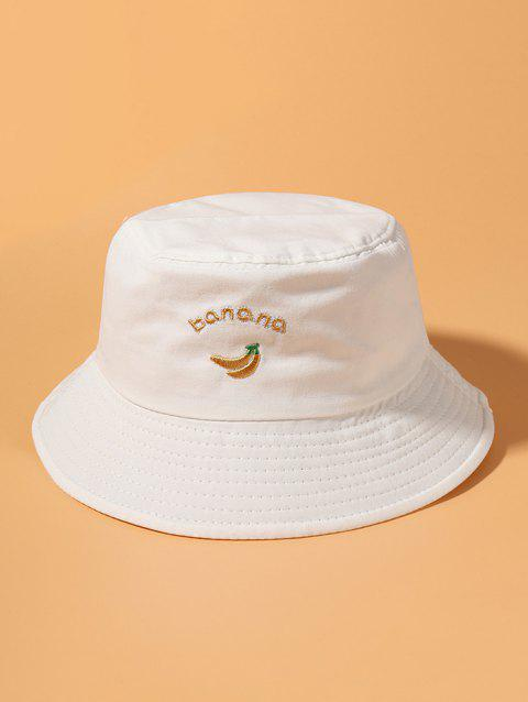 Banana Letter Embroidery Bucket Hat