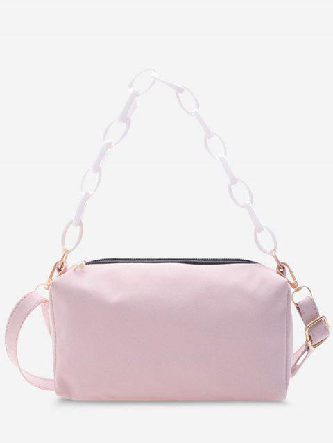 Solid Rectangle Chain Crossbody Bag
