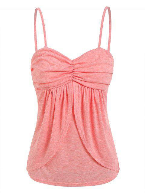 Ruched Front Overlap Cami Top