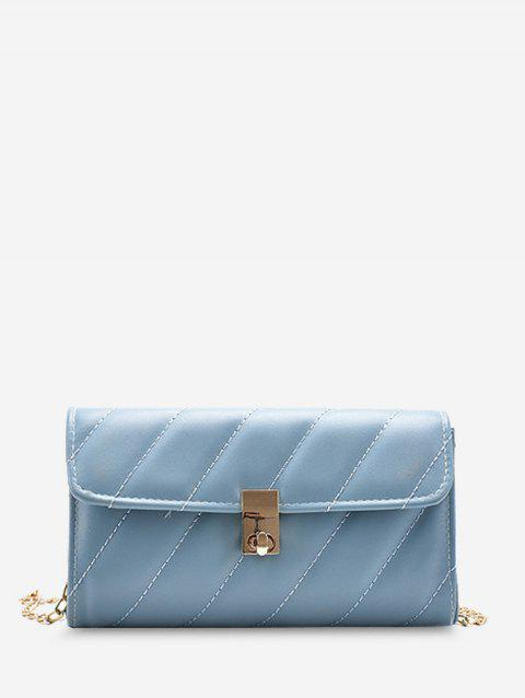 Diagonal Quilted Chain Crossbody Bag