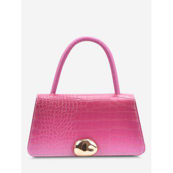 Ombre Embossed Dual Handle Crossbody Bag - ROSE RED