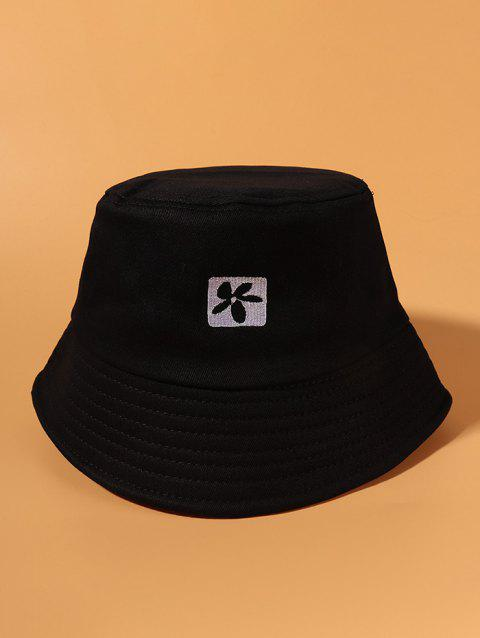 Flower Embroidered Casual Bucket Hat