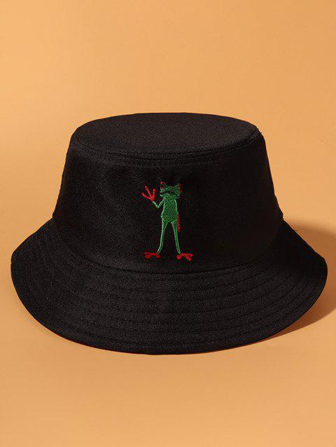 Standing Frog Embroidered Bucket Hat