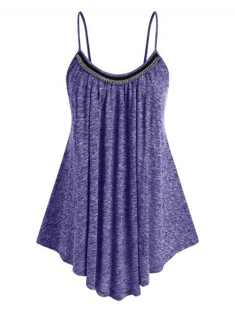 Plus Size Chains Heathered Tank Top