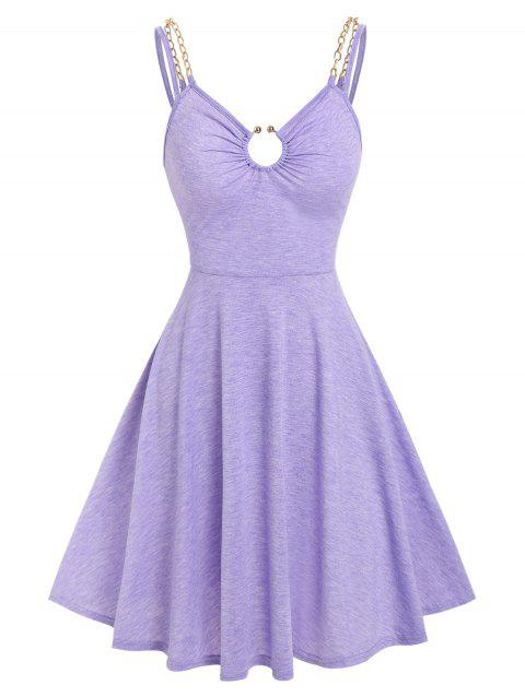 O Ring Chains Strap Fit and Flare Dress