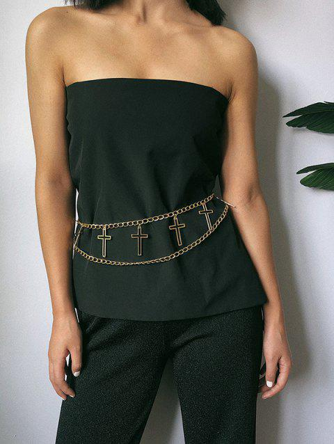 Hollow Out Cross Layered Belly Chain