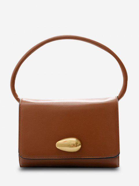 Solid Flap Square Tote Bag