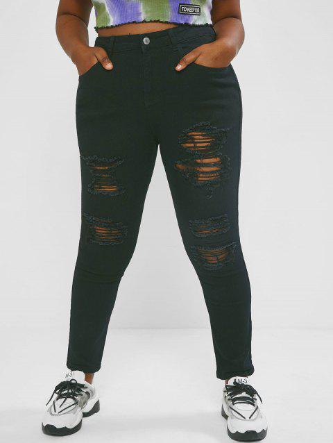 Plus Size Skinny-fit Ripped Jeans
