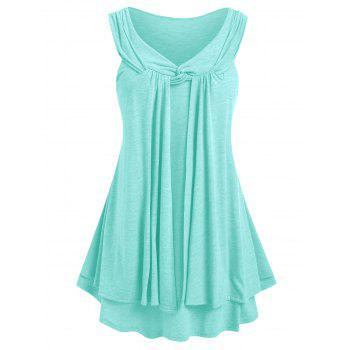 Plus Size Front Twist Layered Tank Top
