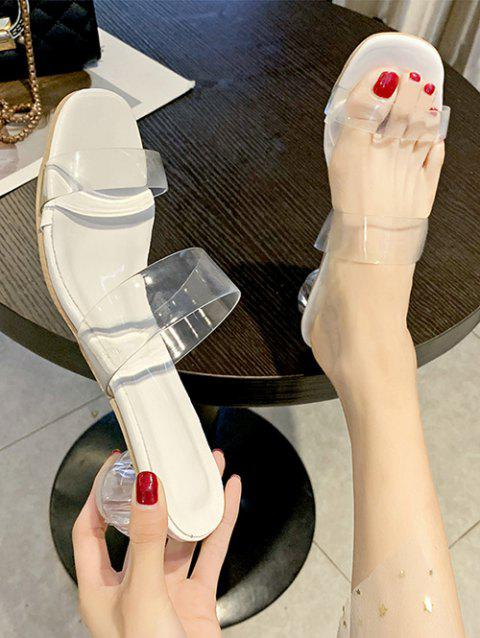Square Toe Clear Vamp Sandals