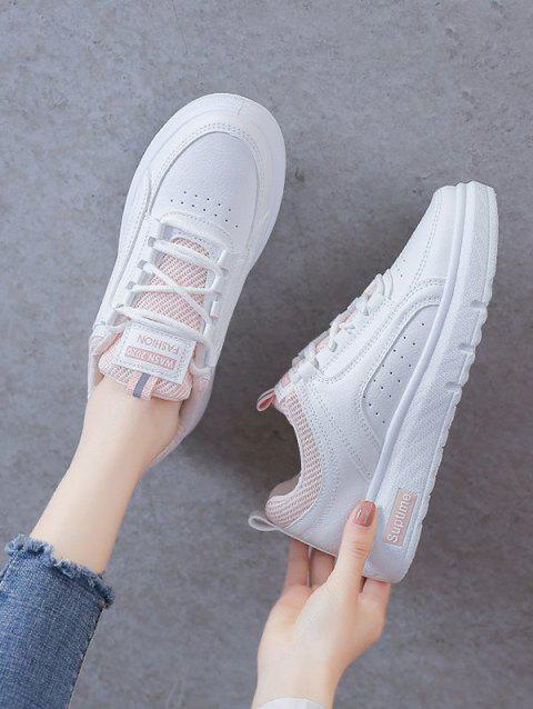 Lace-Up Breathable Flat Sneakers
