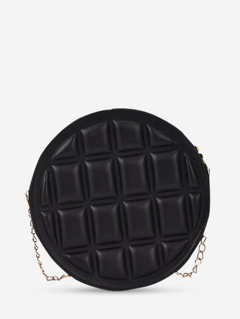 Quilted Round Chain Crossbody Bag