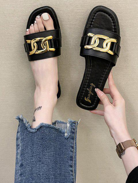 Chunky Chain Decorated Flat Slides