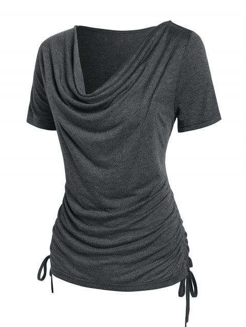 Cowl Neck Cinched T-shirt