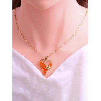 Honeycomb And Bee Pendant Necklace
