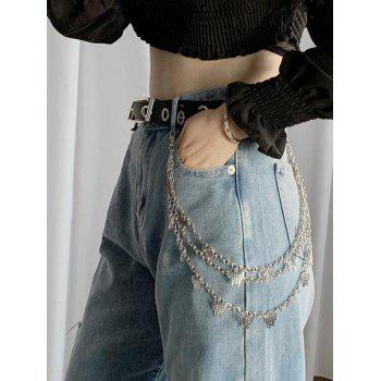 Butterfly Pendant Triple-Layer Trousers Chain