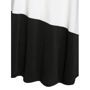 Plus Size Marled Colorblock T Shirt