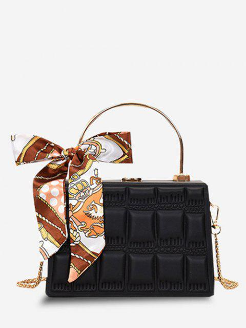 Embossed Quilted Scarf Rectangle Crossbody Bag