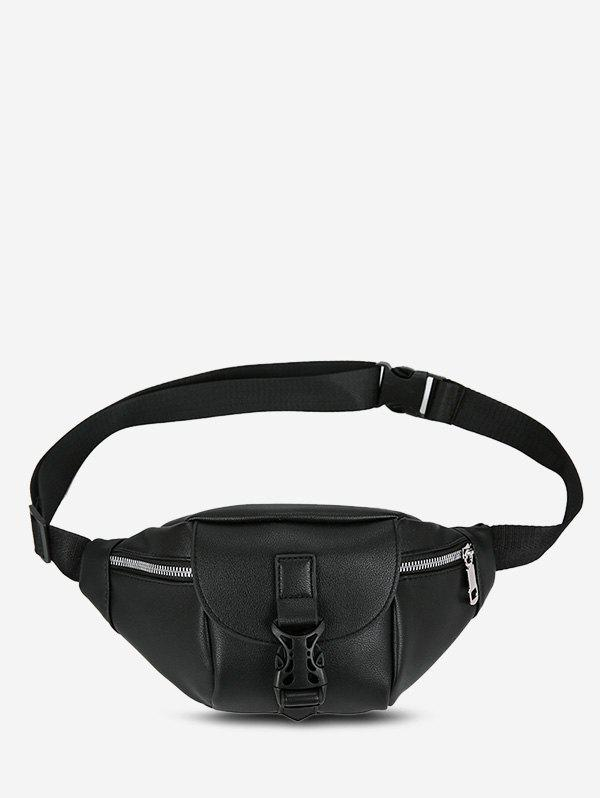 Brief Release Buckle Chest Bag - BLACK