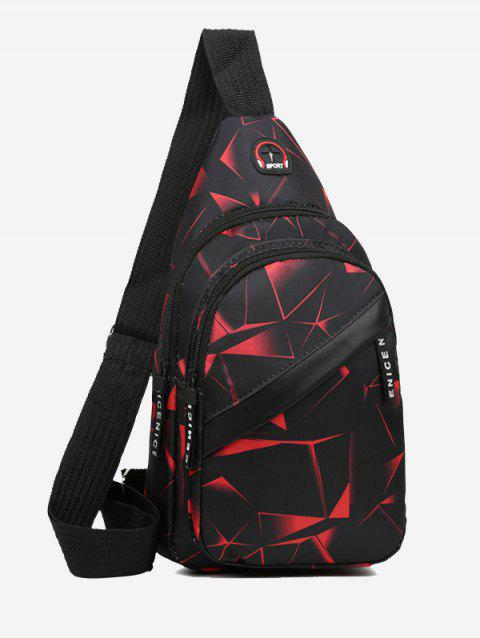 Printed Multi Compartment Sling Bag