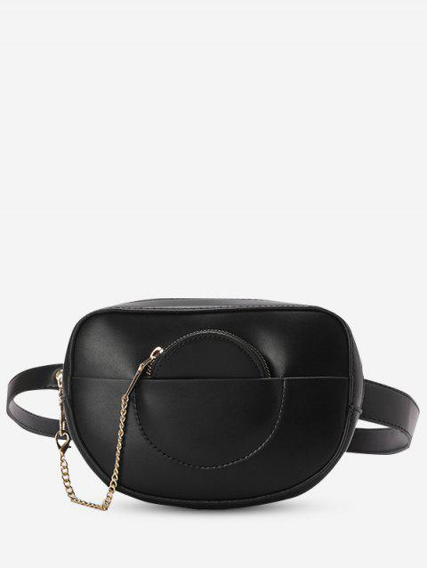 Faux Leather Bum Bag With Pouch