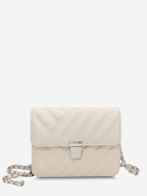 Quilted Chain-Wrapped Strap Crossbody Bag